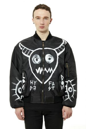 Hand Painted Demon Bomber Jacket